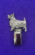 Dog Show Breed Ring Number Clip - Australian Terrier - FULL BODY Silver or Gold Style